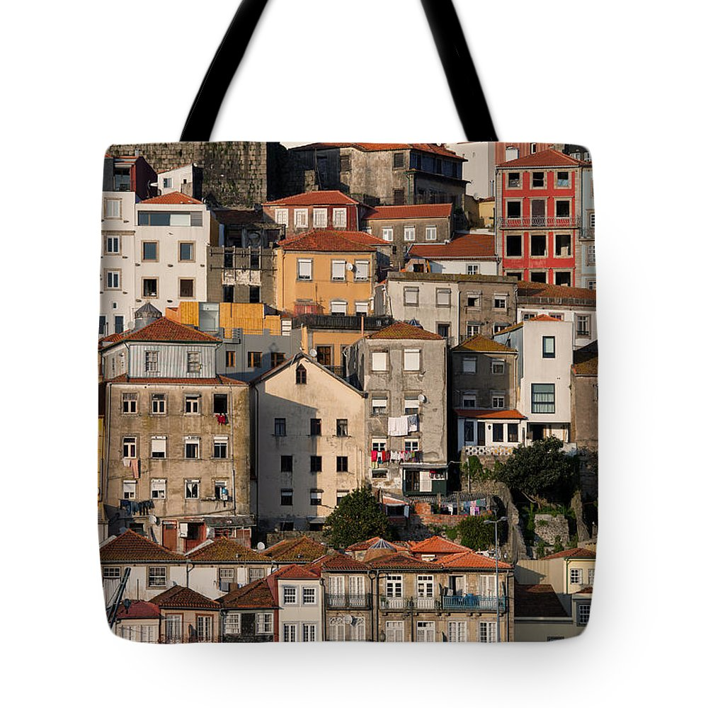 Porto Tote Bag featuring the photograph Houses Of Porto In Portugal by Artur Bogacki