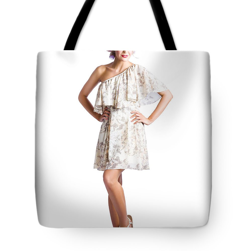 Adult Tote Bag featuring the photograph Housewife With Curlers In Hair by Jorgo Photography - Wall Art Gallery