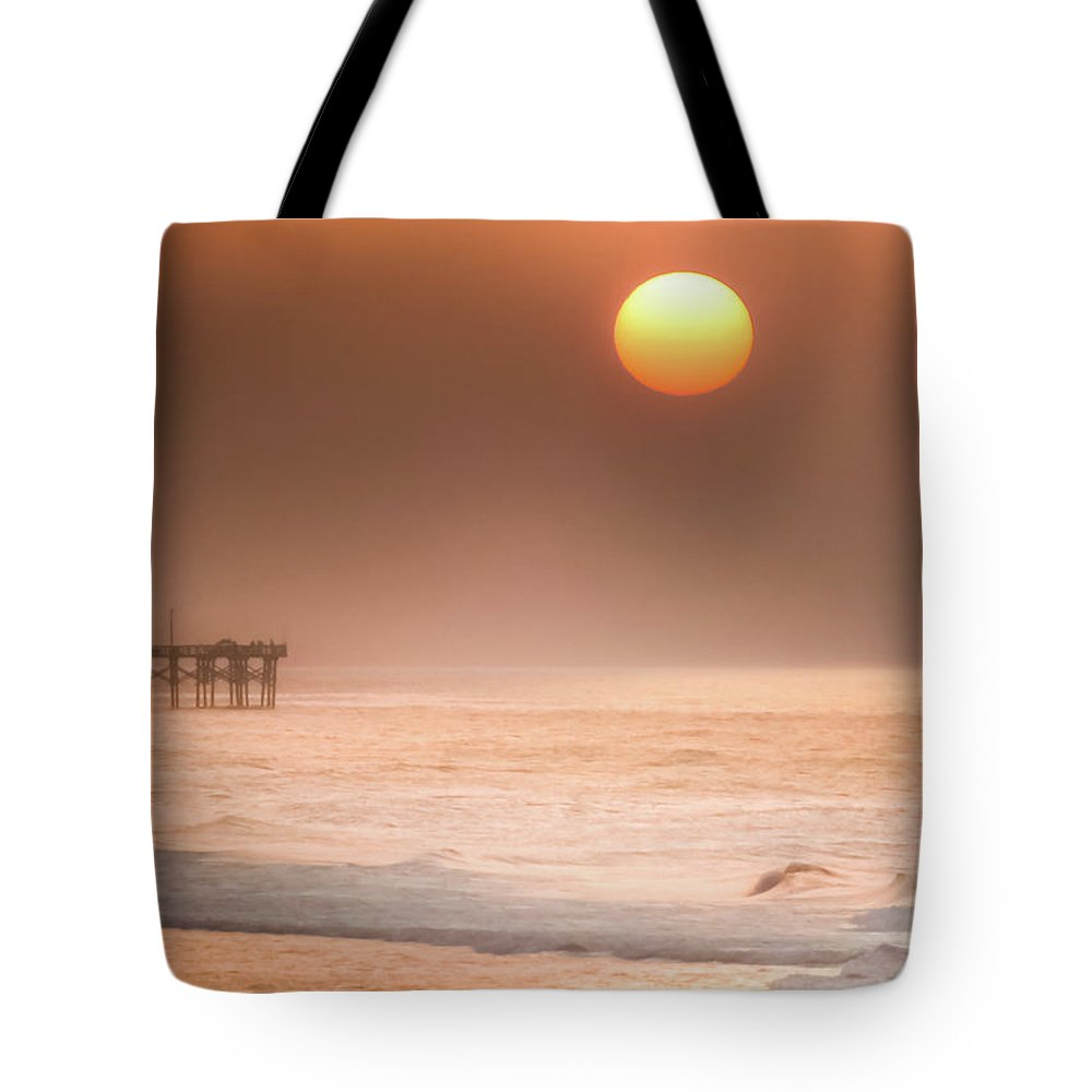 Topsail Beach Sunrise Tote Bag featuring the photograph How Great Thou Art by Karen Wiles