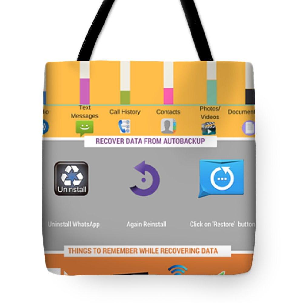 Android Data Recovery Tote Bag featuring the digital art How To Recover Android Whatsapp Lost Data by Edwards Paul