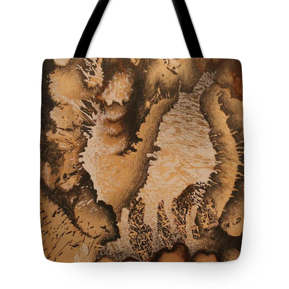Howling Tote Bag featuring the drawing Howling Wolf by Laura Scheving