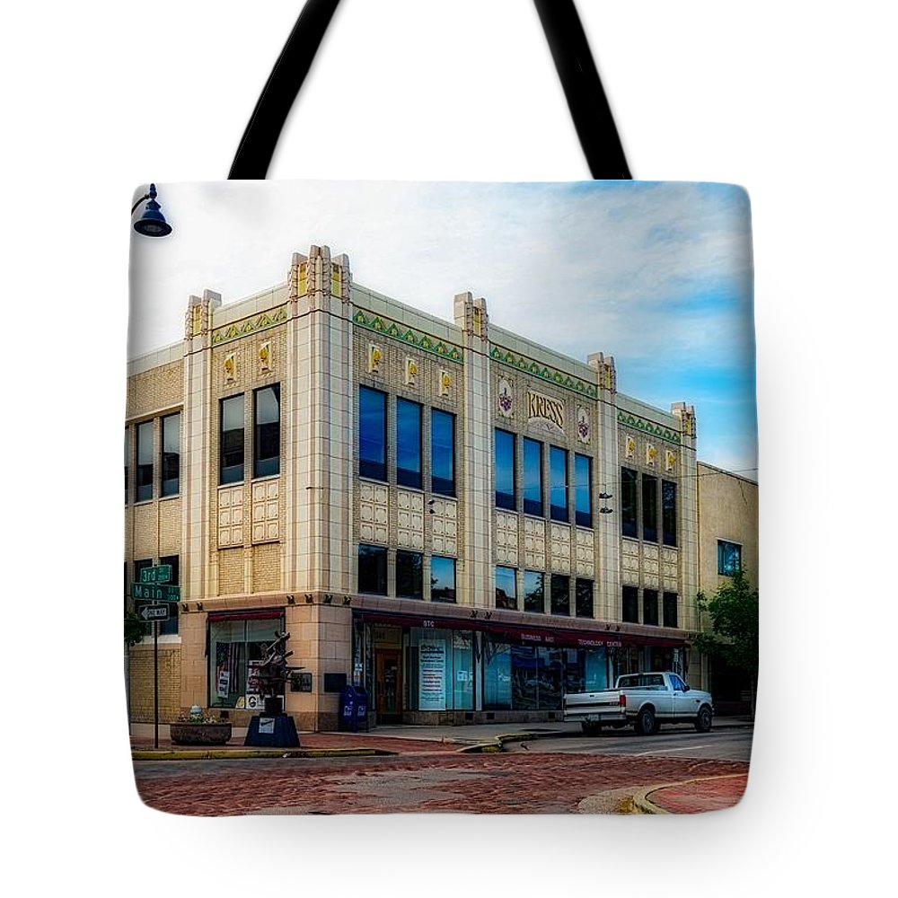 H.s. Kress Tote Bag featuring the photograph H.s. Kress Five And Dime Store by Mountain Dreams
