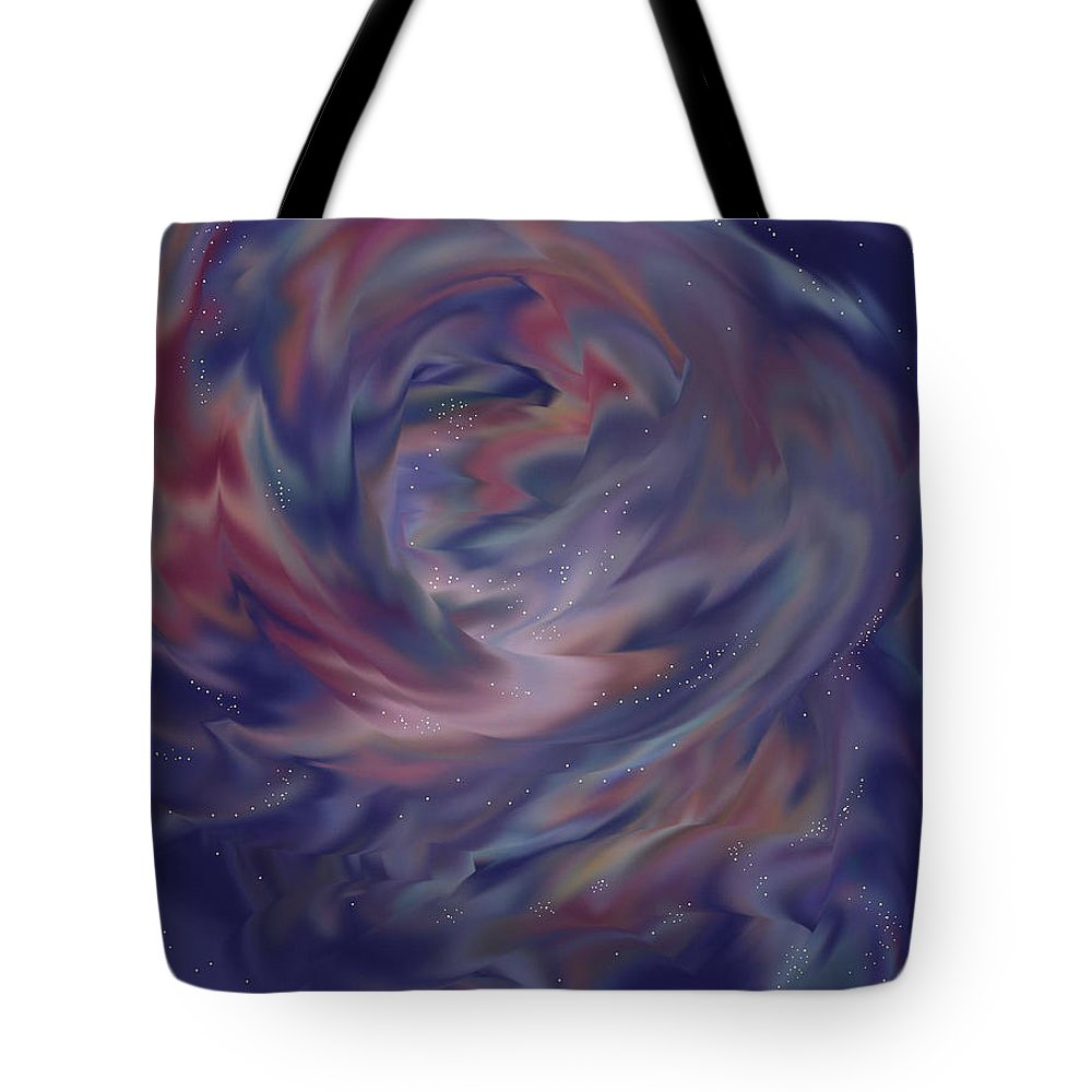 Starscape Tote Bag featuring the painting Hubble One by Anne Norskog