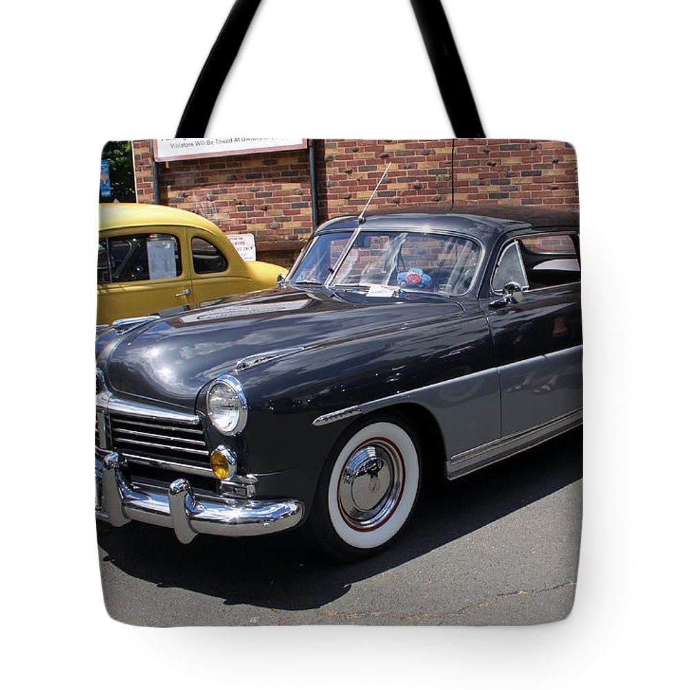 Cars Tote Bag featuring the photograph Hudson 1949 by Gerald Mitchell