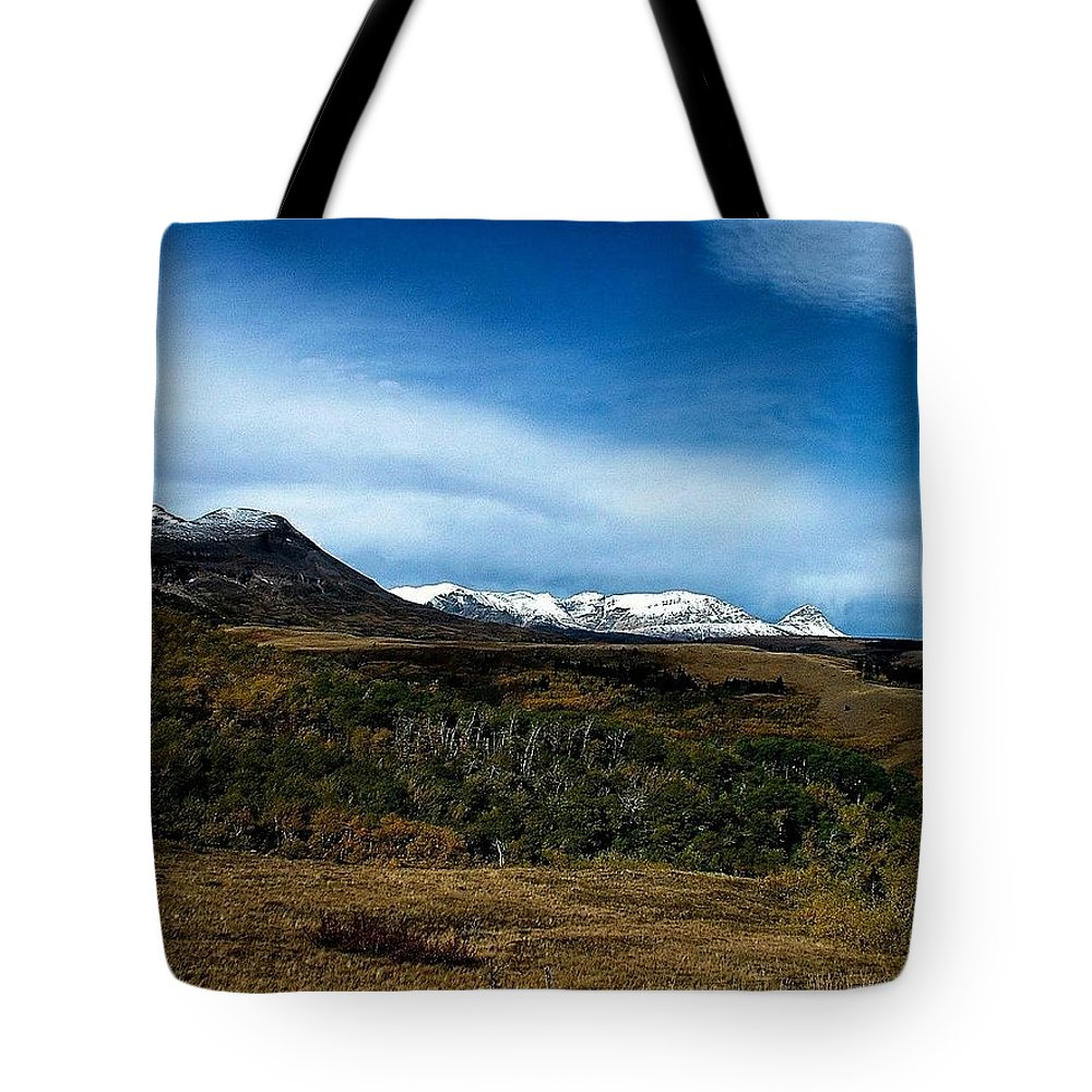 Hudson Bay Divide Tote Bag featuring the photograph Hudson Bay Divide by Tracey Vivar