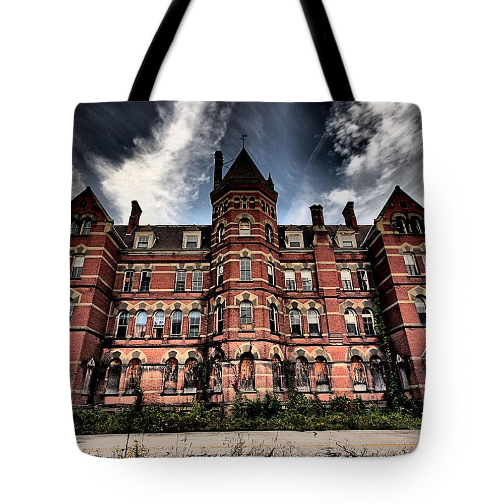 Kirkbride Tote Bag featuring the photograph Hudson River Psych Center by Jason Baker