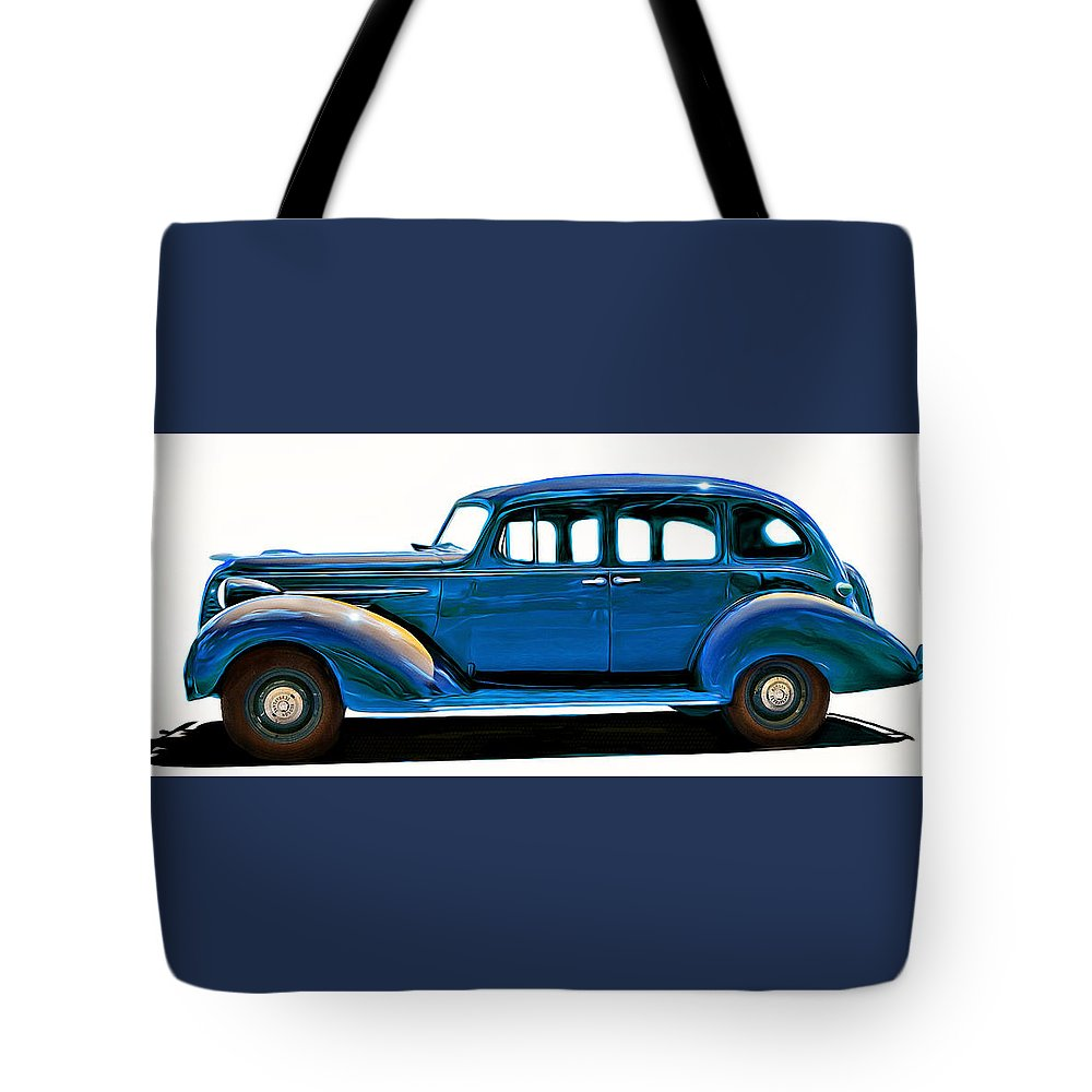 Hudson Tote Bag featuring the painting Hudson Terraplane 1938 by Little Bunny Sunshine