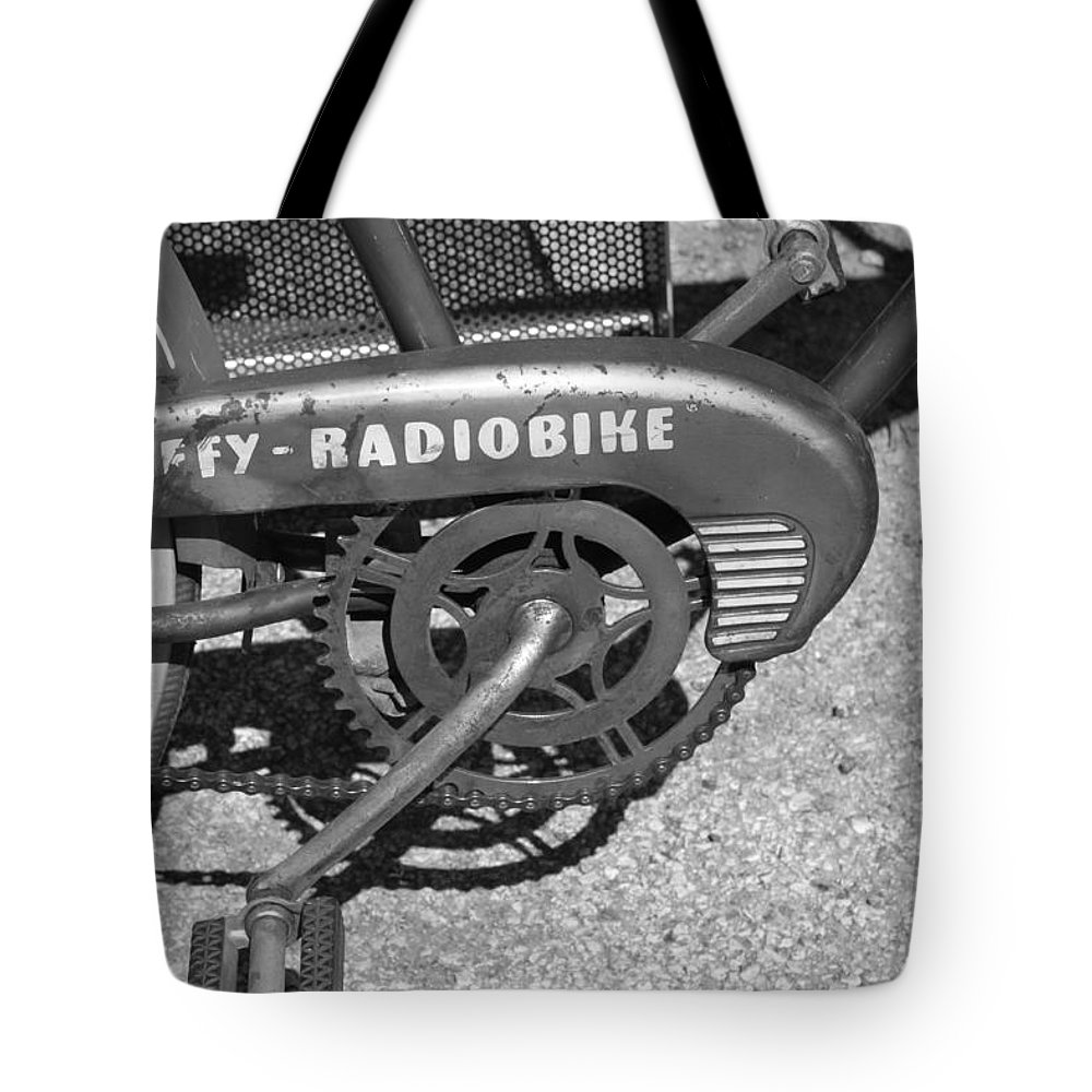 Huffy Tote Bag featuring the photograph Huffy Radio Bike by Lauri Novak