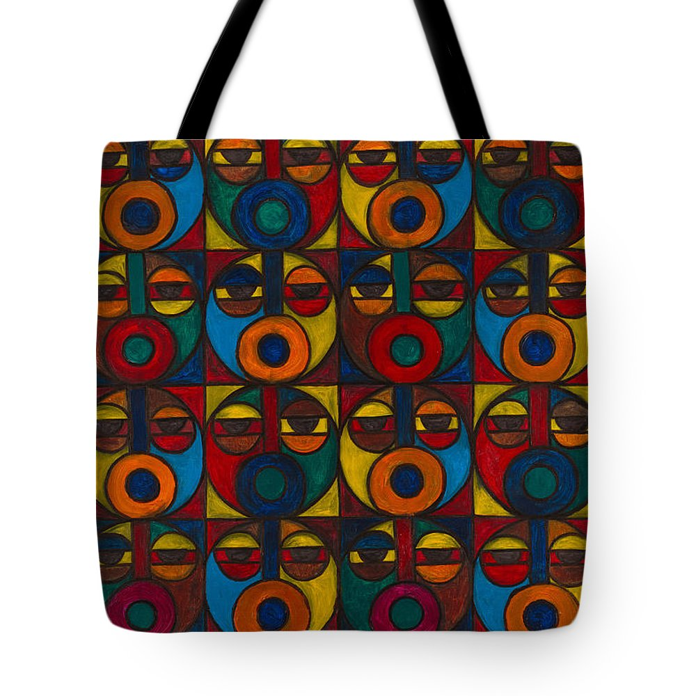 Tote Bag featuring the painting Humanity by Emeka Okoro