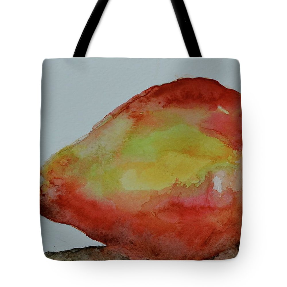 Pear Tote Bag featuring the painting Humble Pear by Beverley Harper Tinsley