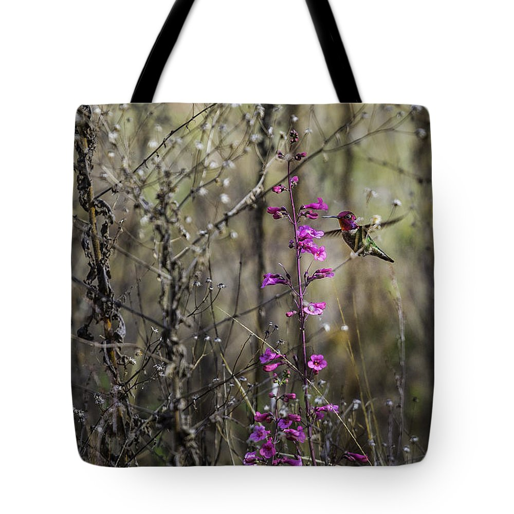Humming Bird Tote Bag featuring the photograph Humming Bird In Nature by Billy Bateman