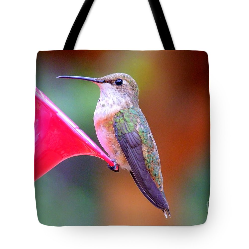 Bird Tote Bag featuring the photograph Hummingbird - 18 by Mary Deal