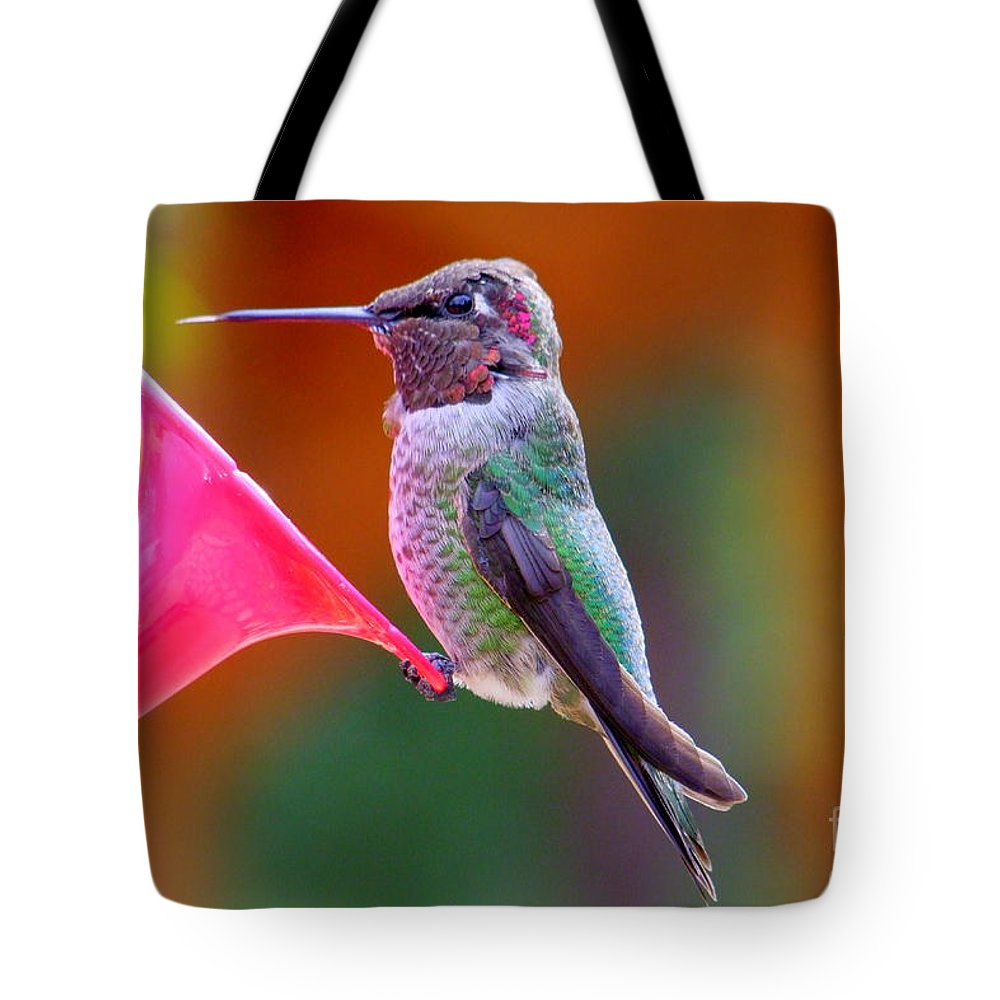 Bird Tote Bag featuring the photograph Hummingbird - 28 by Mary Deal