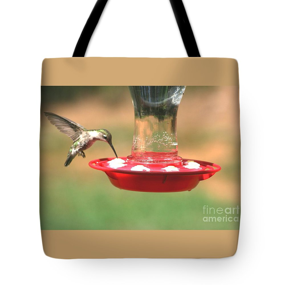 Hummingbird Tote Bag featuring the photograph Hummingbird by Stacy C Bottoms