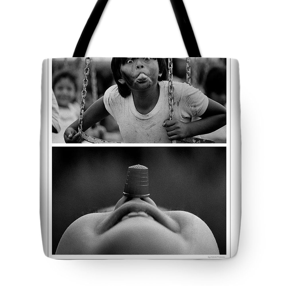 Poster Tote Bag featuring the photograph Humorme by Michael Mogensen