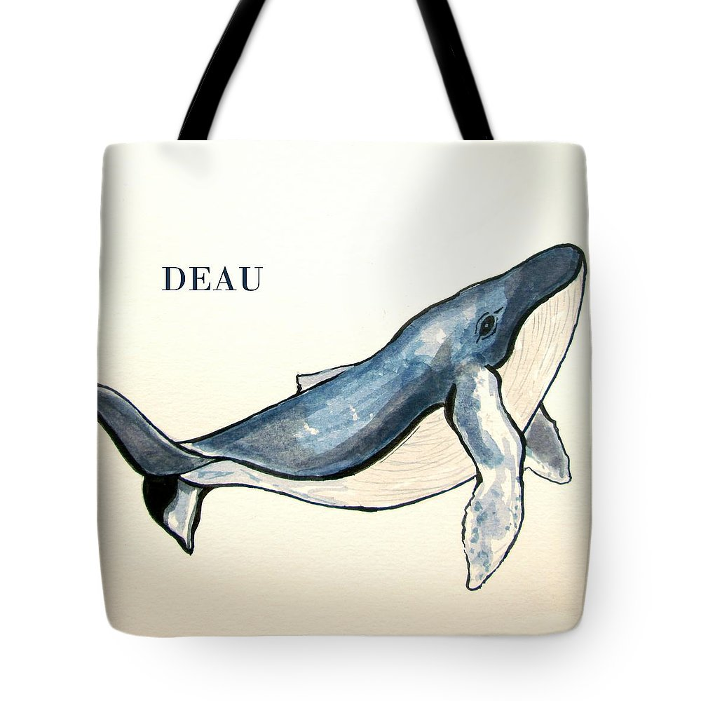Fish Tote Bag featuring the painting Humpback Whale by Dominique Janssens
