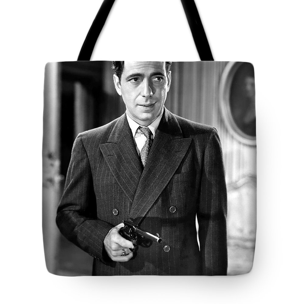 Humphrey Bogart As As Gangster Gloves Donahue All Through The Night 1941 Tote Bag featuring the photograph Humphrey Bogart As As Gangster Gloves Donahue All Through The Night 1941 by David Lee Guss