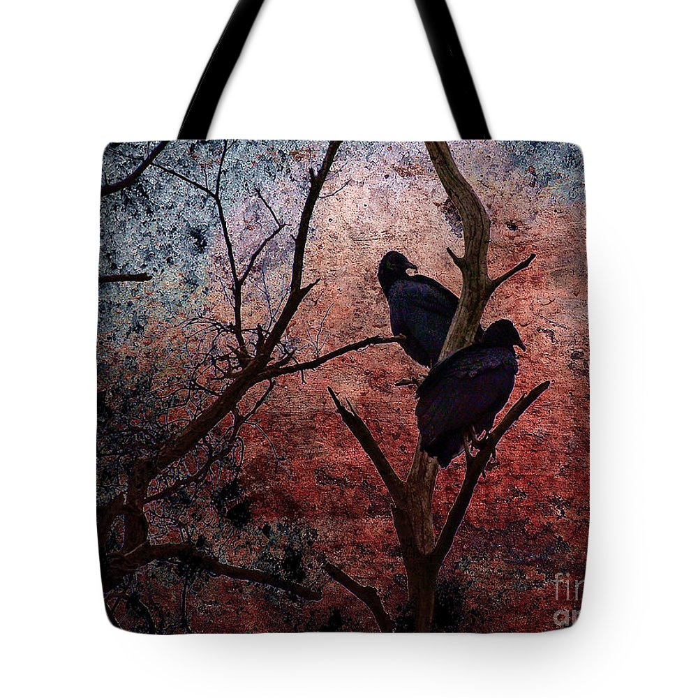 Buzzard Tote Bag featuring the photograph Hunger by Lois Bryan