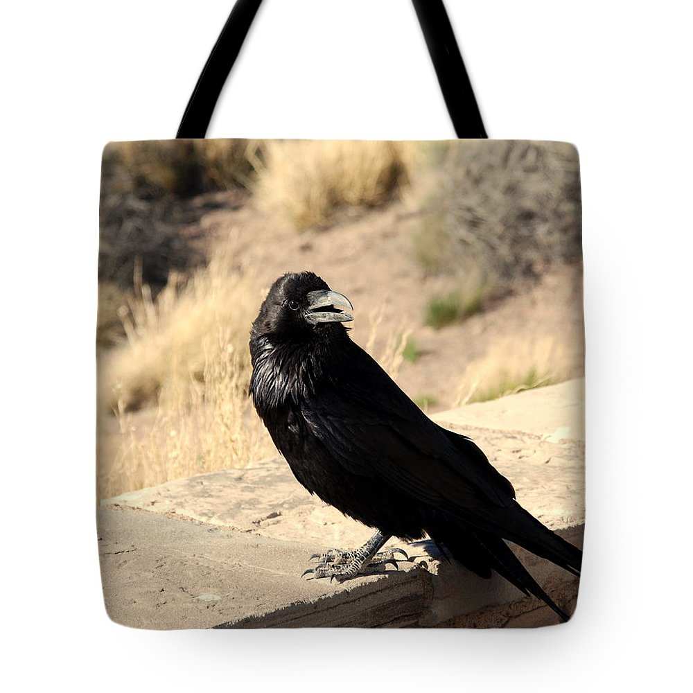 Crow Tote Bag featuring the photograph Hungry Crow by Susanne Van Hulst