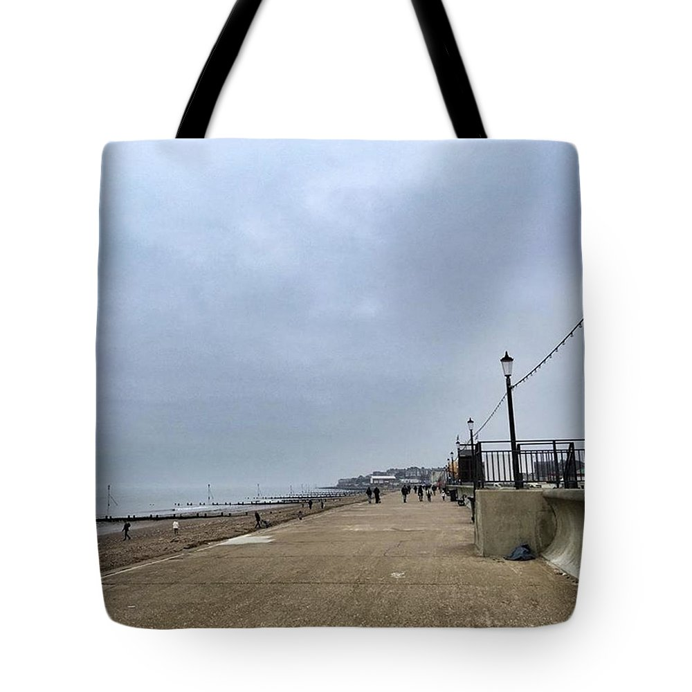 Beautiful Tote Bag featuring the photograph Hunstanton At 4pm Yesterday As The by John Edwards