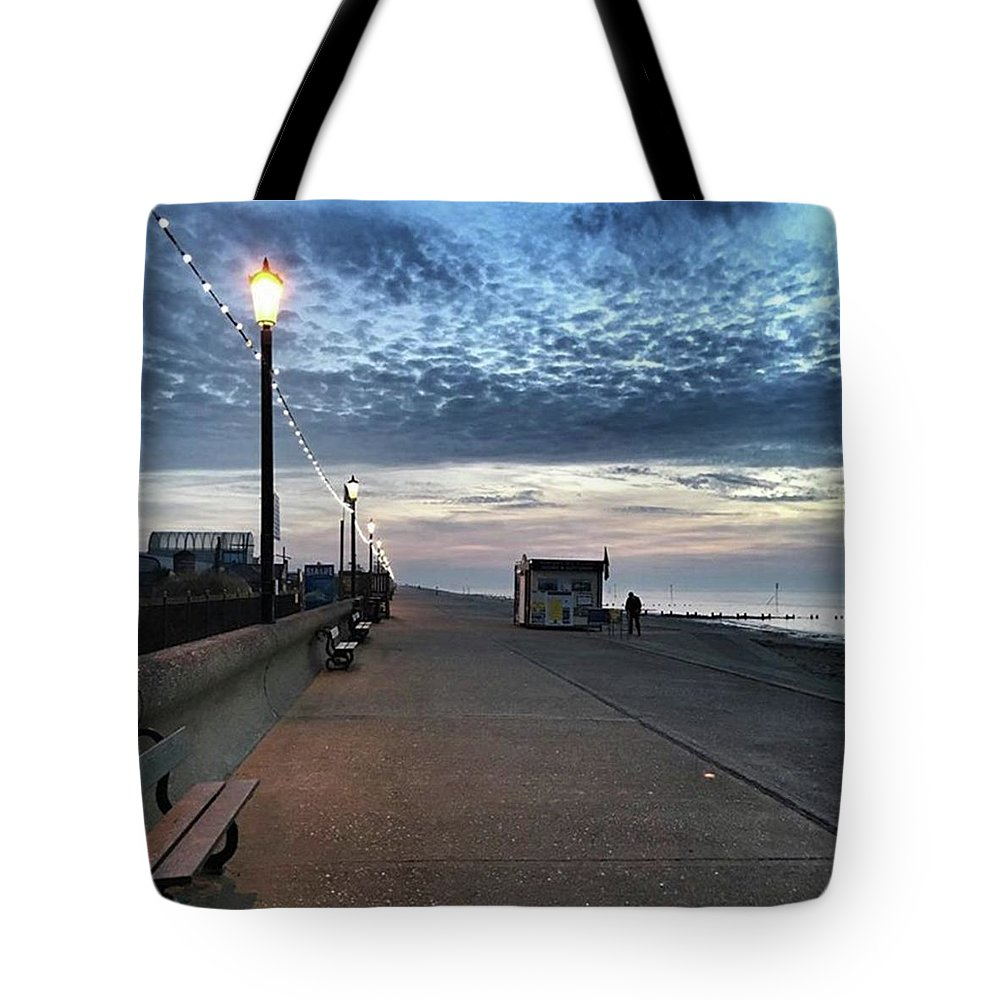 Beautiful Tote Bag featuring the photograph Hunstanton At 5pm Today  #sea #beach by John Edwards