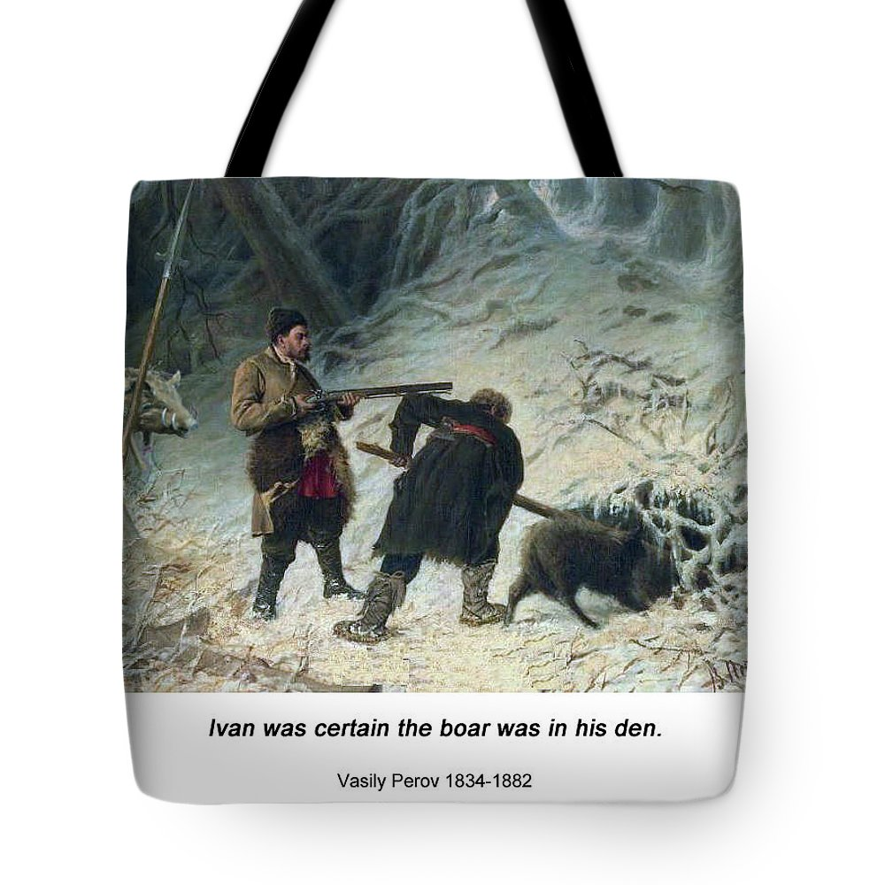 Altered Art Tote Bag featuring the digital art Hunting For Wild Boar by John Saunders
