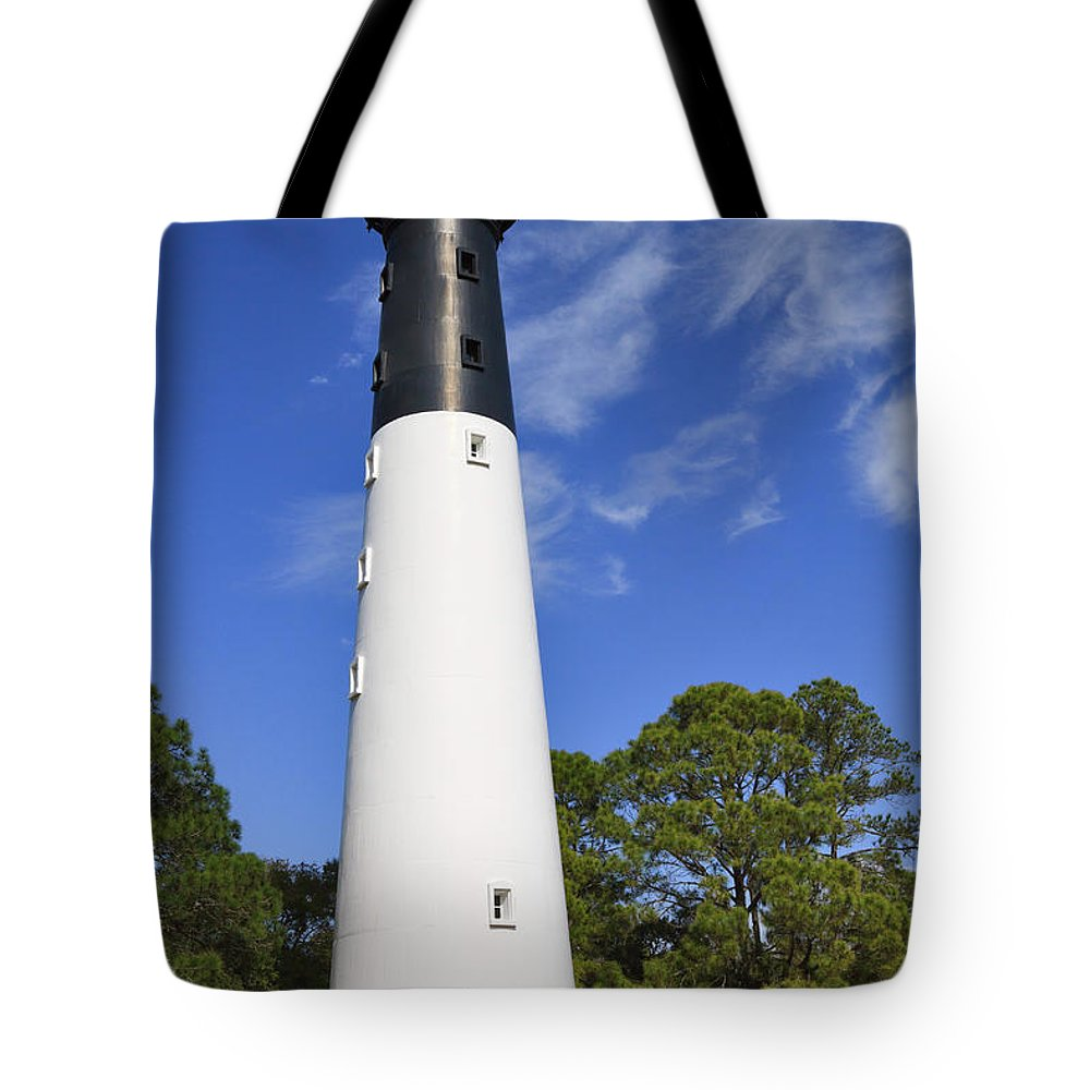 Lighthouse Tote Bag featuring the photograph Hunting Island Lighthouse South Carolina by Louise Heusinkveld