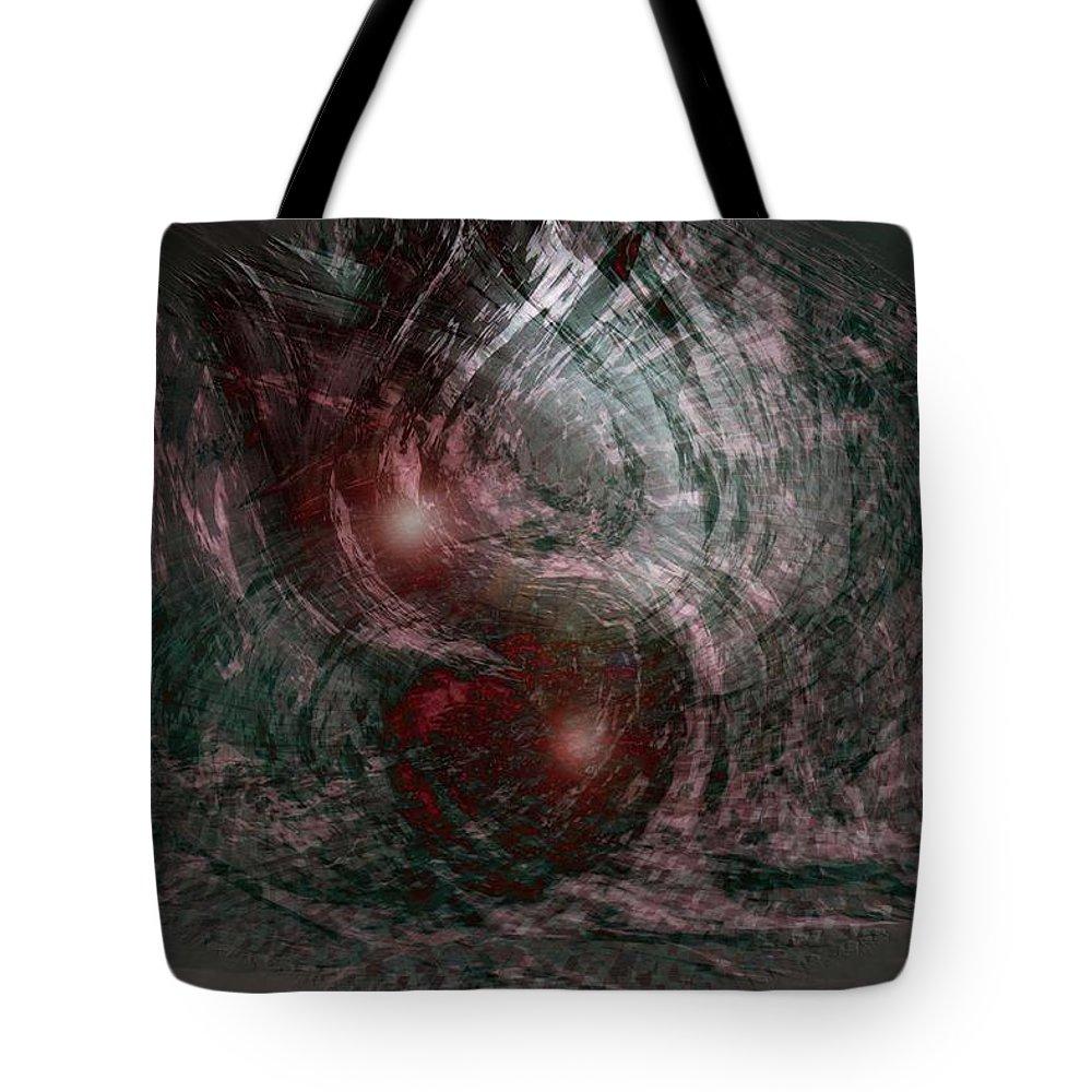 Abstract Art Tote Bag featuring the digital art Hurricane by Linda Sannuti