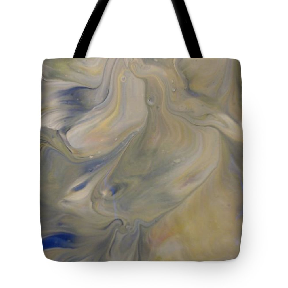Abstract Tote Bag featuring the painting Hush by C Maria Wall