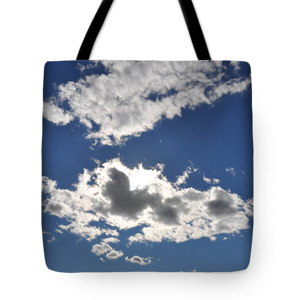 Cloud Tote Bag featuring the photograph Huson River Clouds 1 by Rich Bodane