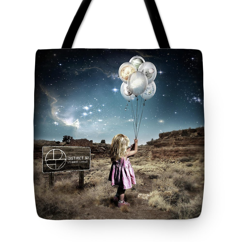 Tote Bag featuring the digital art Hybrid Child by District 97