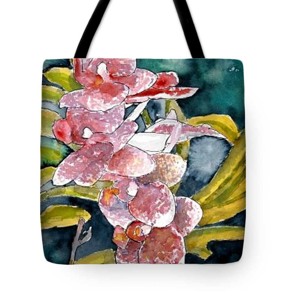 Orchid Tote Bag featuring the painting Hybrid Orchids Orchid Flowers by Derek Mccrea
