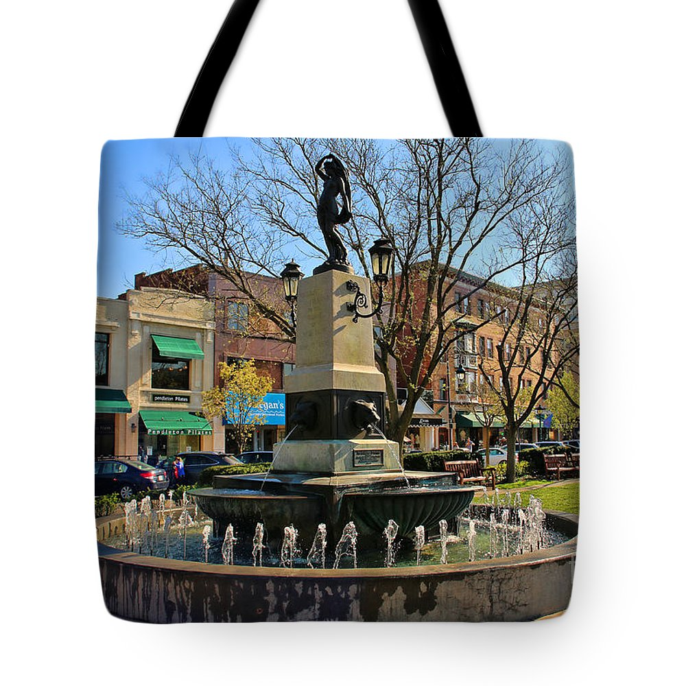 Jack Schultz Photography Tote Bag featuring the photograph Hyde Park Square 4183 by Jack Schultz