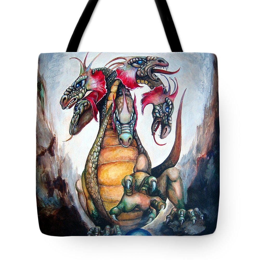 Hydra Tote Bag featuring the painting Hydra by Leyla Munteanu