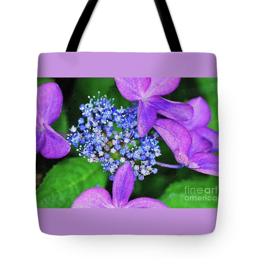 Photography Tote Bag featuring the photograph Hydrangea by Kaye Menner