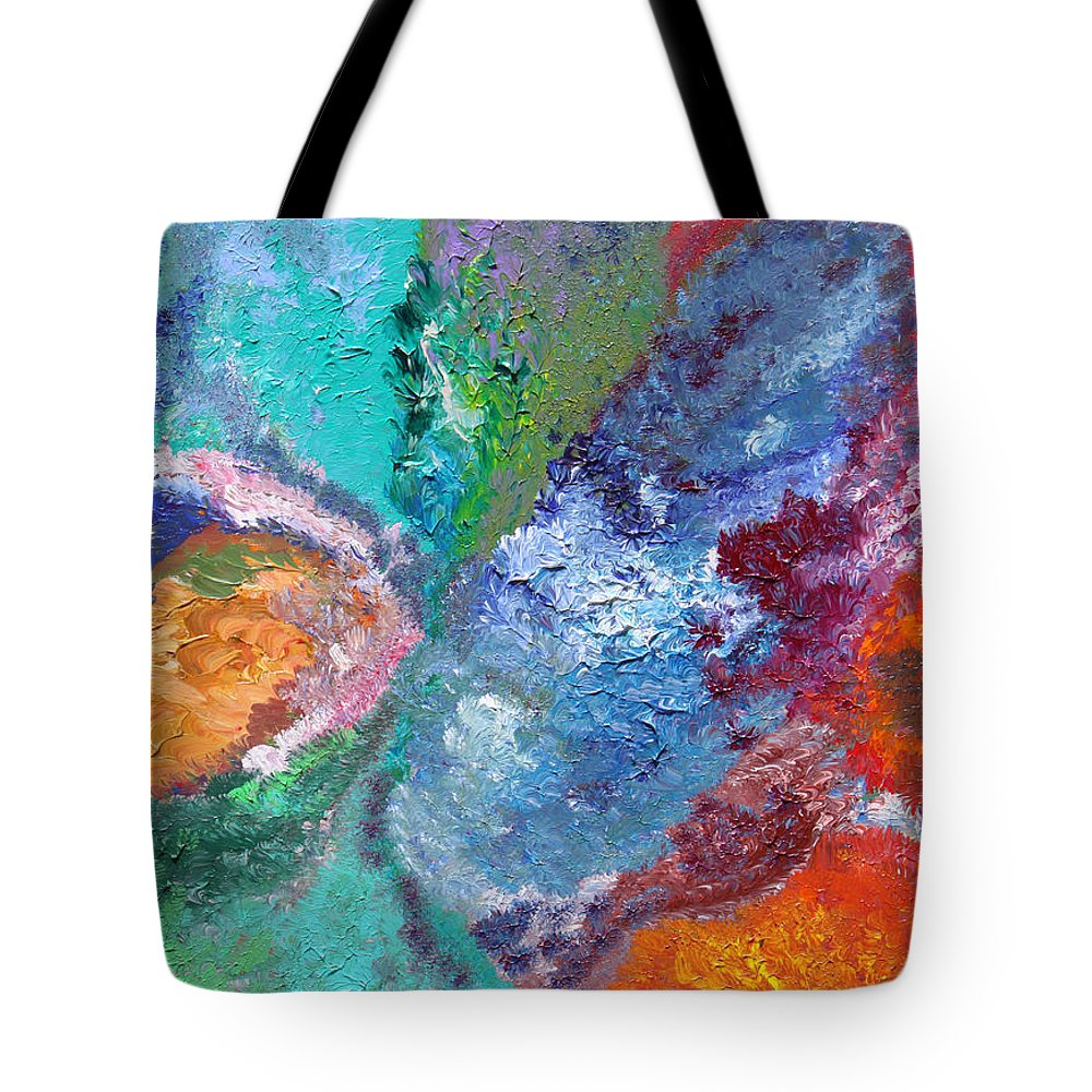 Fusionart Tote Bag featuring the painting Hydrangea by Ralph White