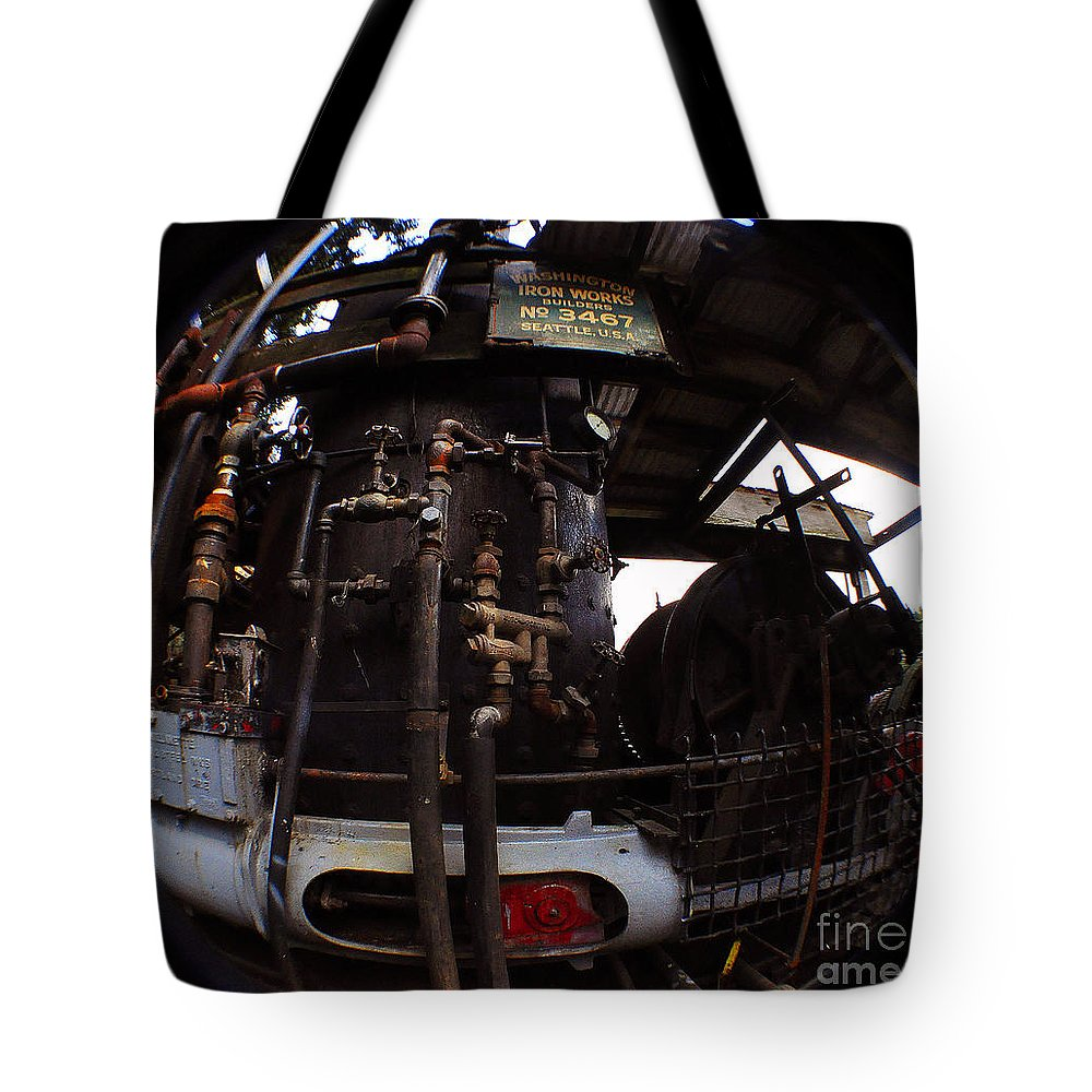 Clay Tote Bag featuring the photograph Hydraulic-mechanical Managerie by Clayton Bruster