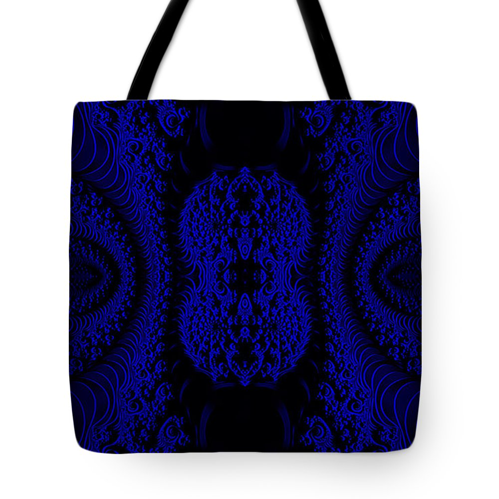 Clay Tote Bag featuring the digital art Hyper Tidal Blue by Clayton Bruster
