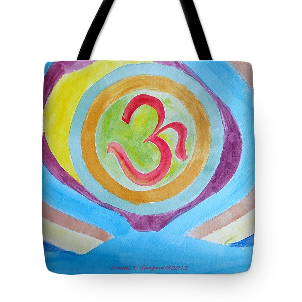 Existence Tote Bag featuring the painting I Am Existence by Sonali Gangane