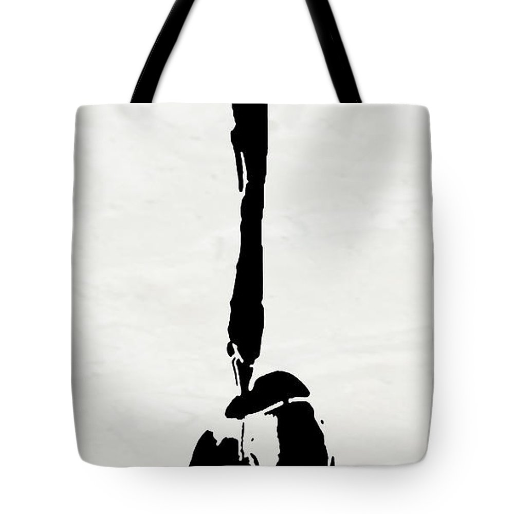Abstract Tote Bag featuring the digital art I Am Here by Ken Walker