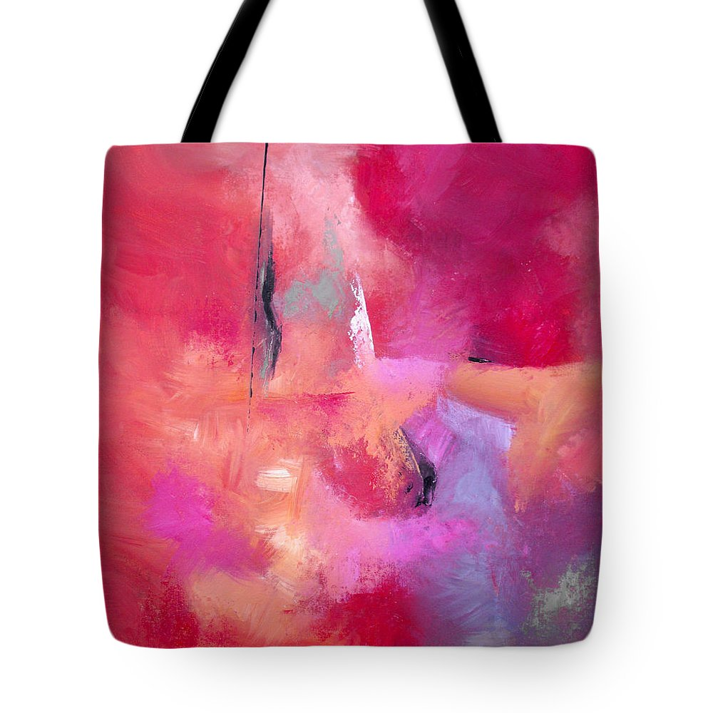 Abstract Tote Bag featuring the painting I Am Not Ashamed by Ruth Palmer