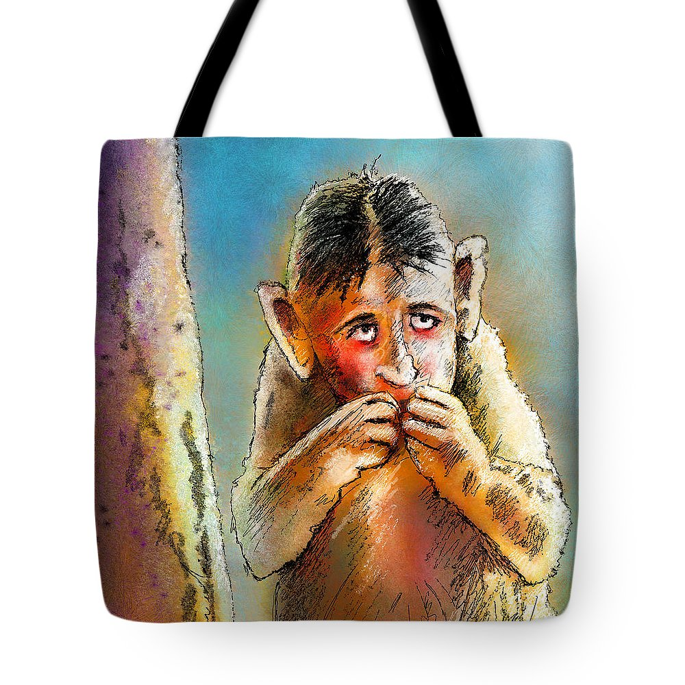 Love Tote Bag featuring the painting I Am So Sorry by Miki De Goodaboom