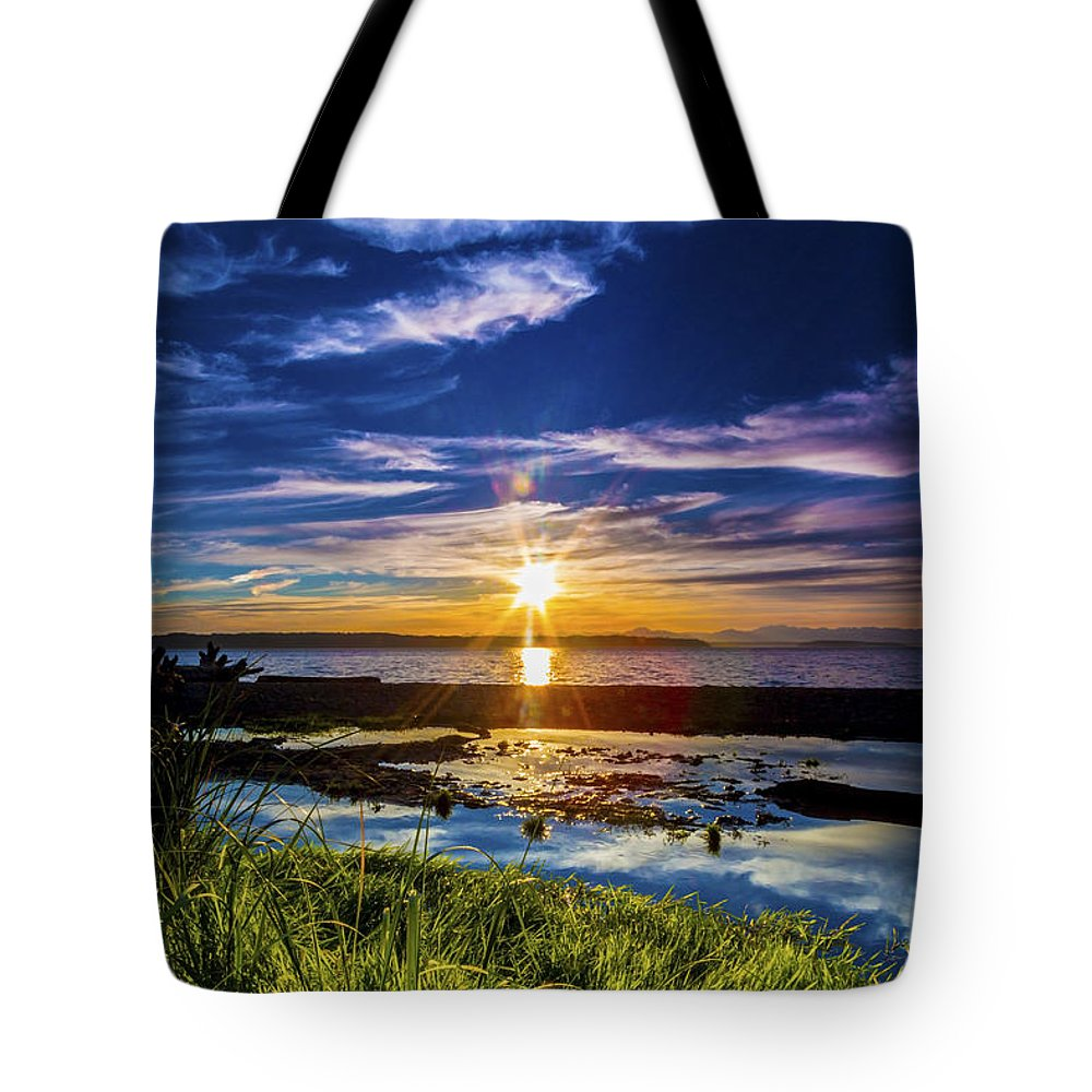 Sunsets Tote Bag featuring the photograph I Can Dream, Can't I? by Larry Waldon