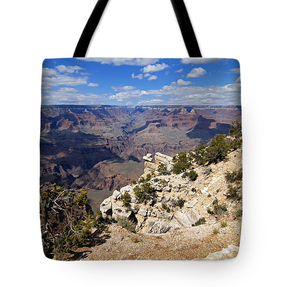 Grand Canyon National Park Tote Bag featuring the photograph I Can See For Miles And Miles - Grand Canyon by Larry Ricker
