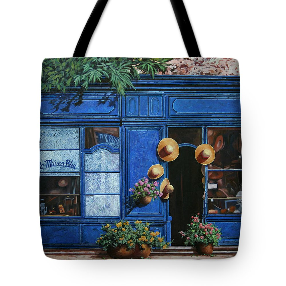 Shop Tote Bag featuring the painting I Cappelli Gialli by Guido Borelli