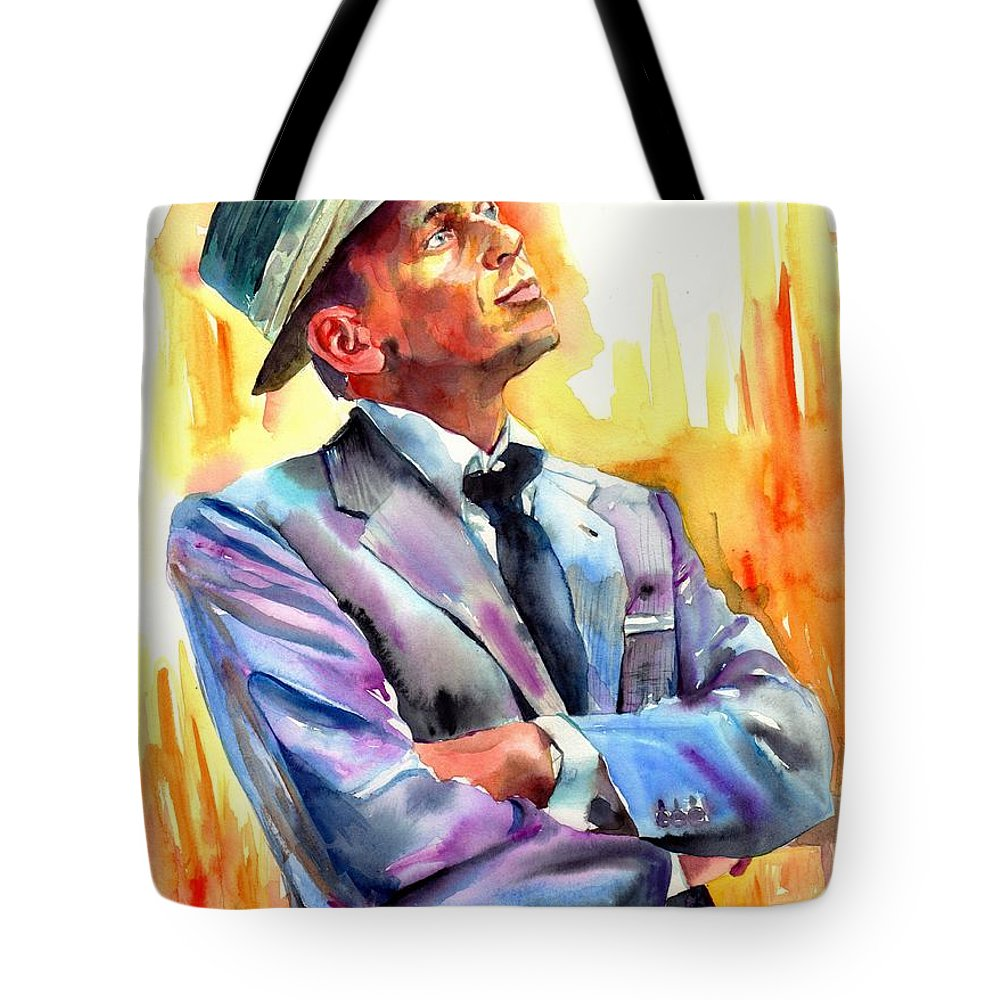 Frank Tote Bag featuring the painting I Did It My Way by Suzann's Art