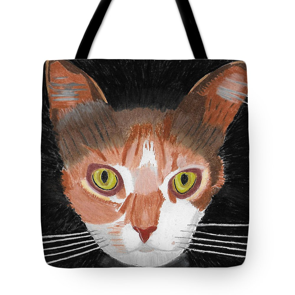 Cats Tote Bag featuring the painting I Do Live Very Well by Dr Jessie Hummel