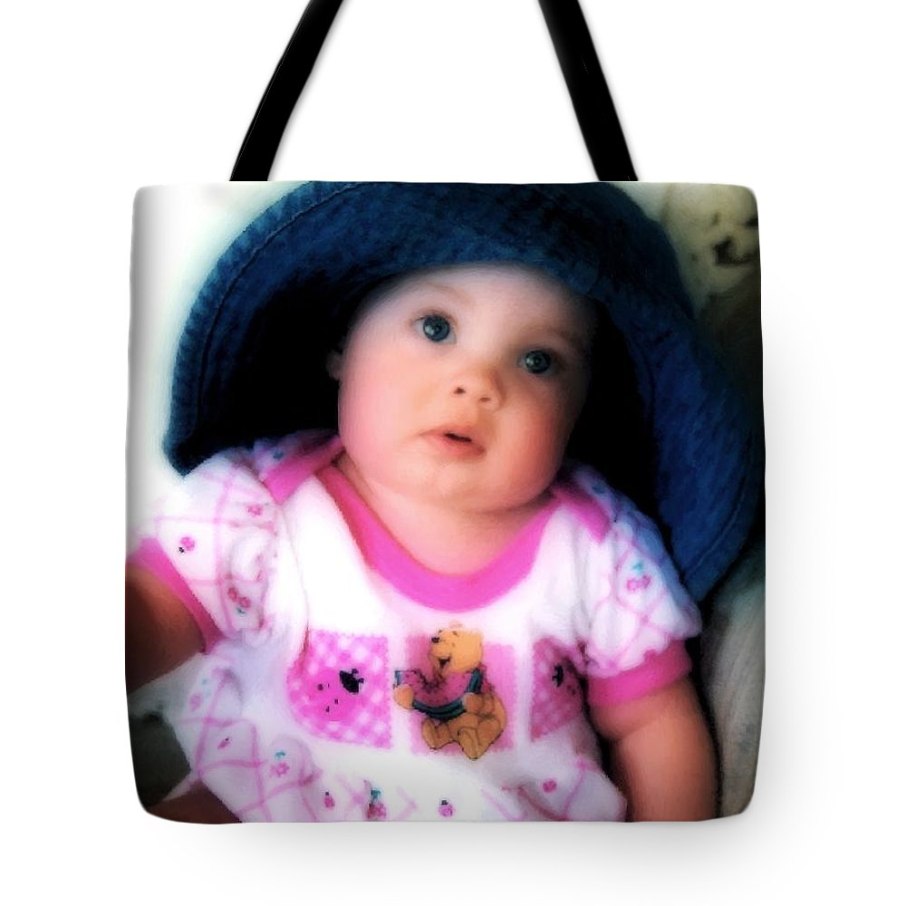 Baby Tote Bag featuring the digital art I Dont Think So by RC DeWinter