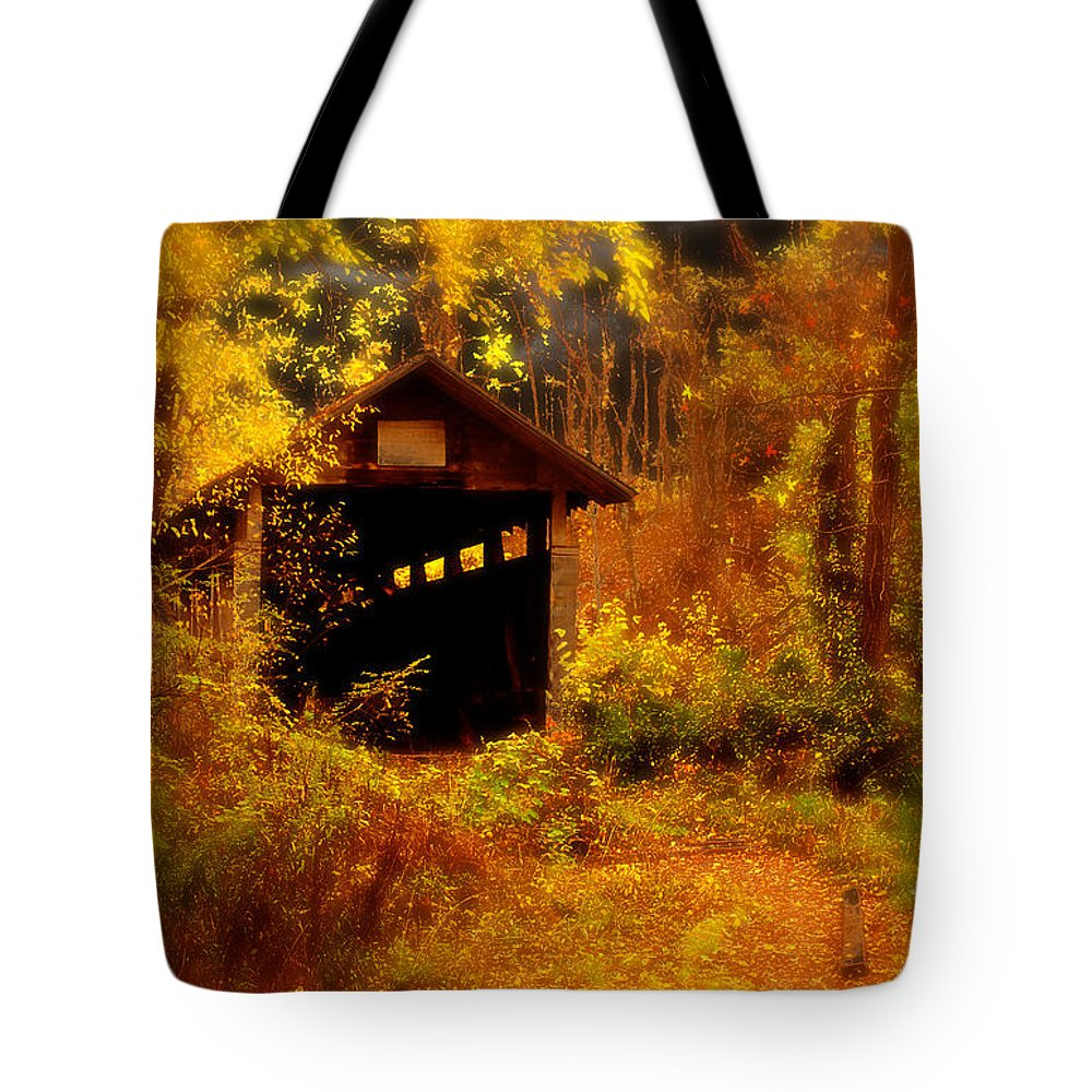Halloween Tote Bag featuring the digital art I Double Dog Dare Ya by Lois Bryan