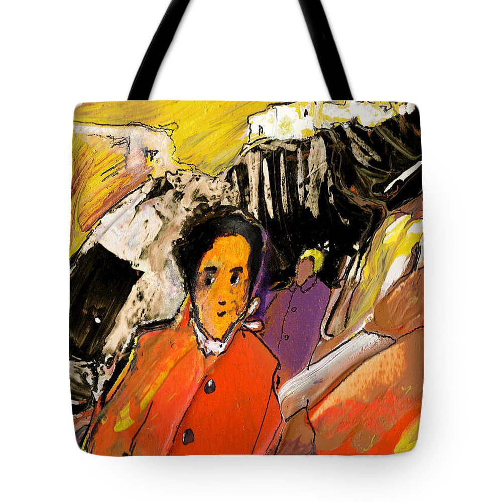 Portraits Tote Bag featuring the painting I Dreamt Of Oscar Wilde by Miki De Goodaboom